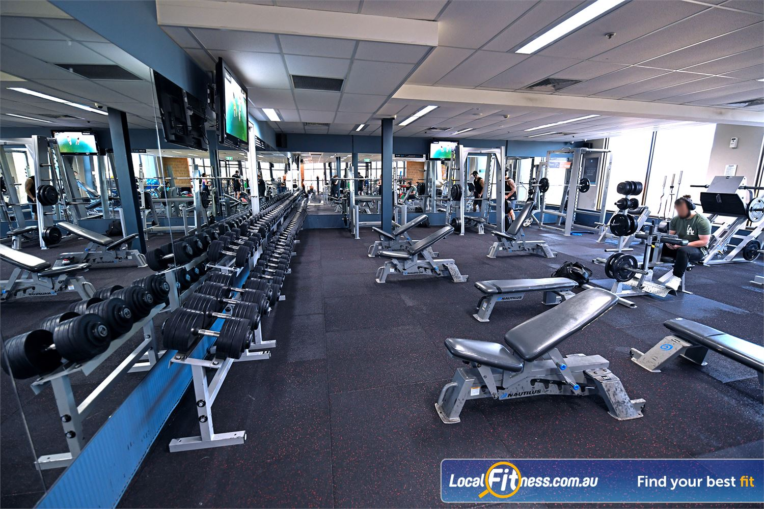 Goodlife Health Clubs Near Werribee A complete range of free-weights and plate loading equipment in our Point Cook gym.