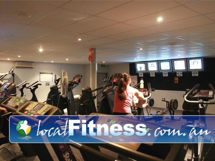 Lilydale Squash & Fitness Centre Gym Chirnside Park  | Our cardio theatre has plenty of treadmills, rowers