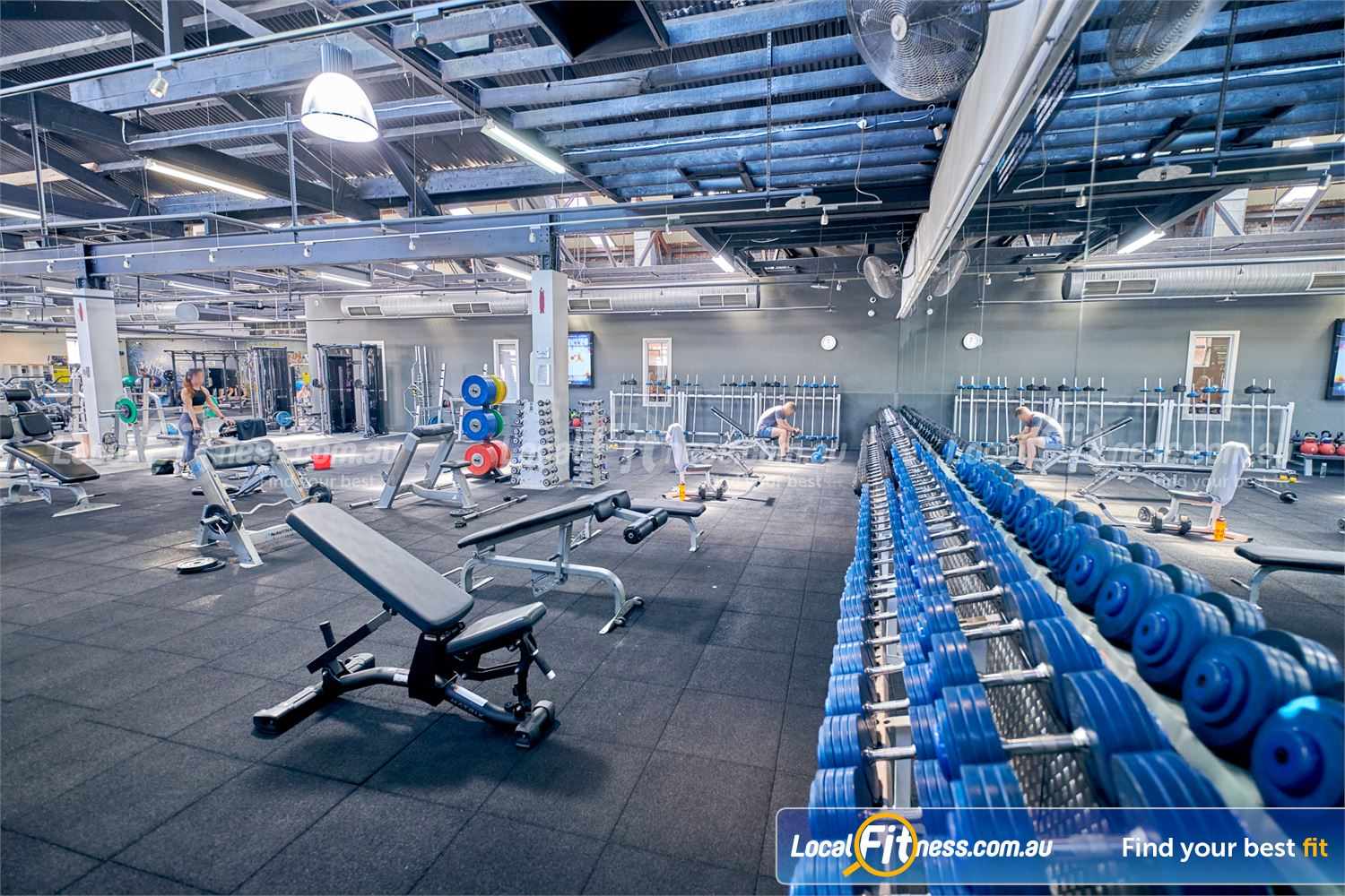 Goodlife Health Clubs Prahran Our 24-hour Prahran gym includes a fully equipped free-weights area.