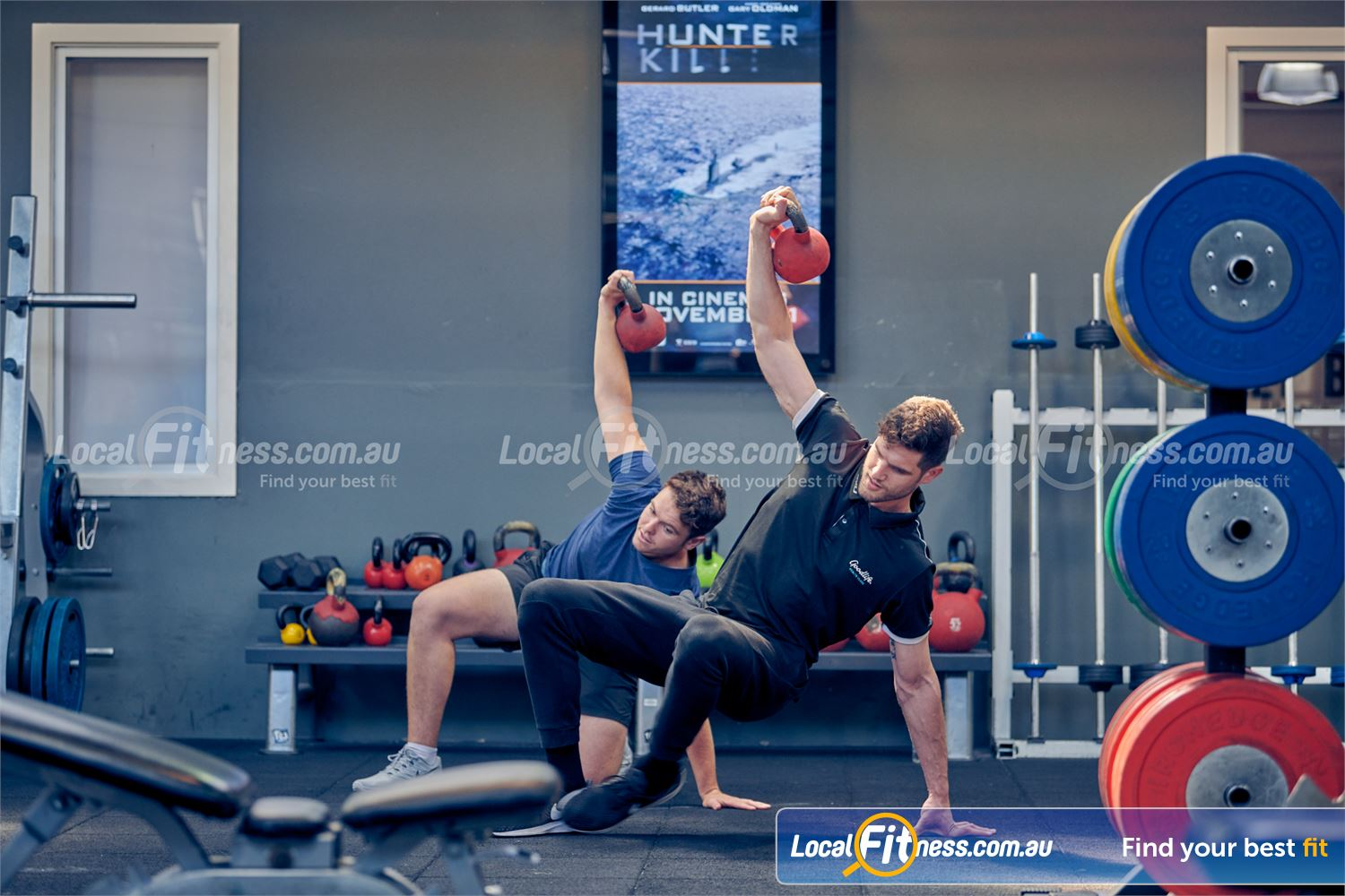Goodlife Health Clubs Near Windsor Our Prahran personal trainers can challenge you with the Turkish get-up.