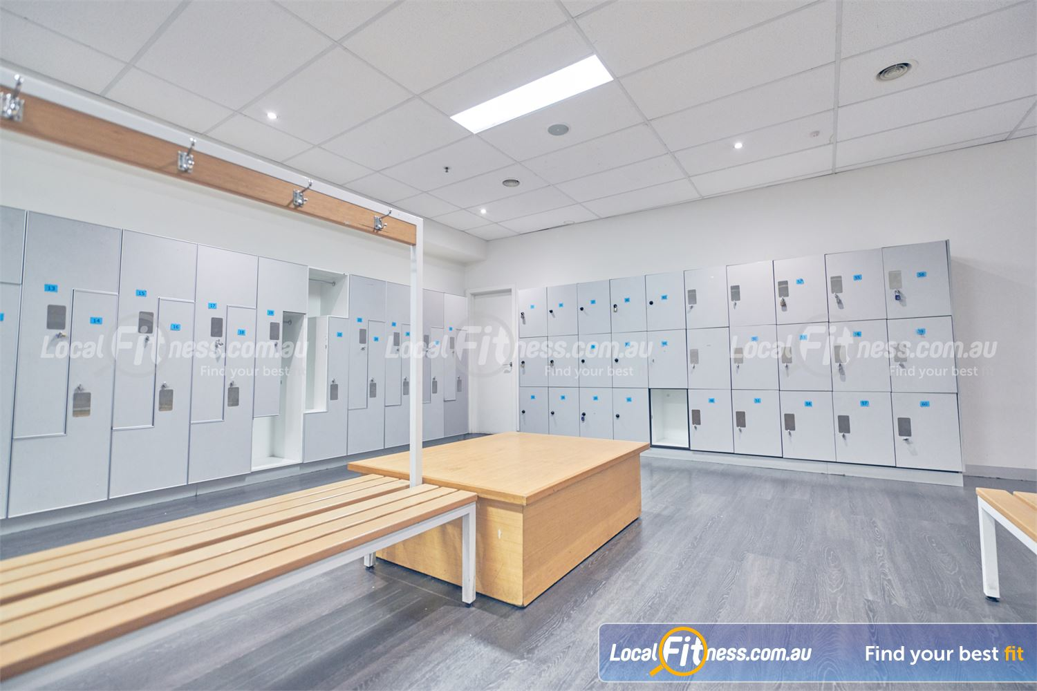 Goodlife Health Clubs Near St Kilda Spacious lockers to store your belongings while you train.