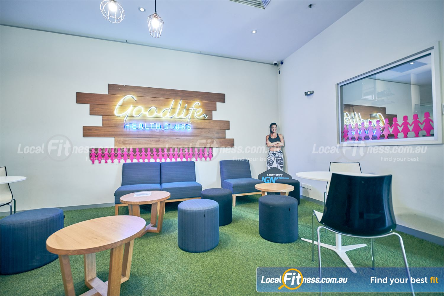 Goodlife Health Clubs Near Windsor The relaxing members lounge area.