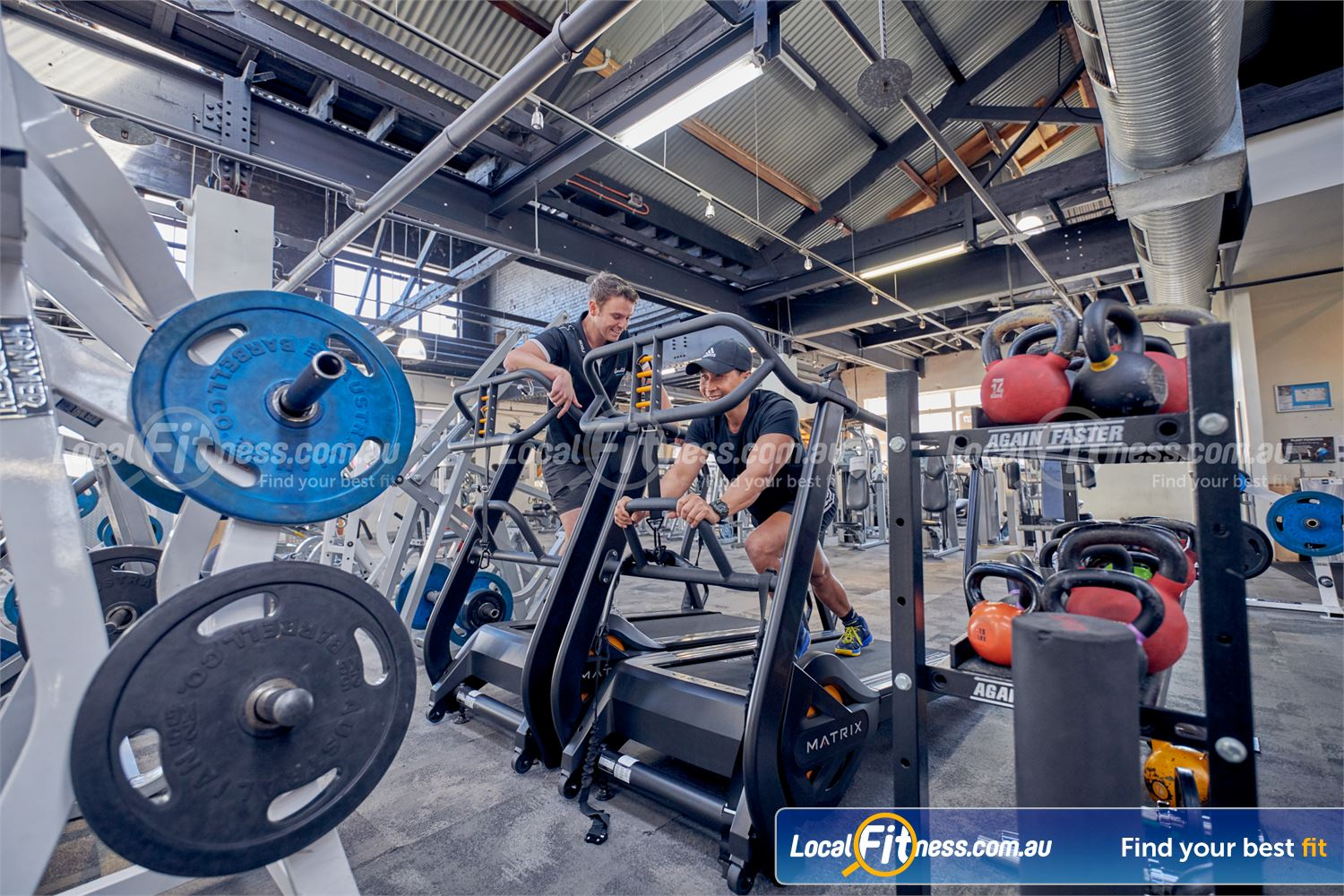 Goodlife Health Clubs Near St Kilda Get a functional cardio workout on the MATRIX S-Drive Performance Trainer.