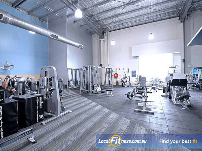 Goodlife Health Clubs Gym Carlton North  | The spacious Goodlife Coburg gym floor.