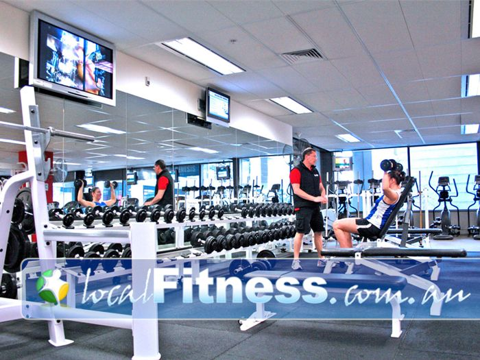 Genesis Fitness Clubs Gym Docklands  | Full range of dumbbell, barbell and benches.