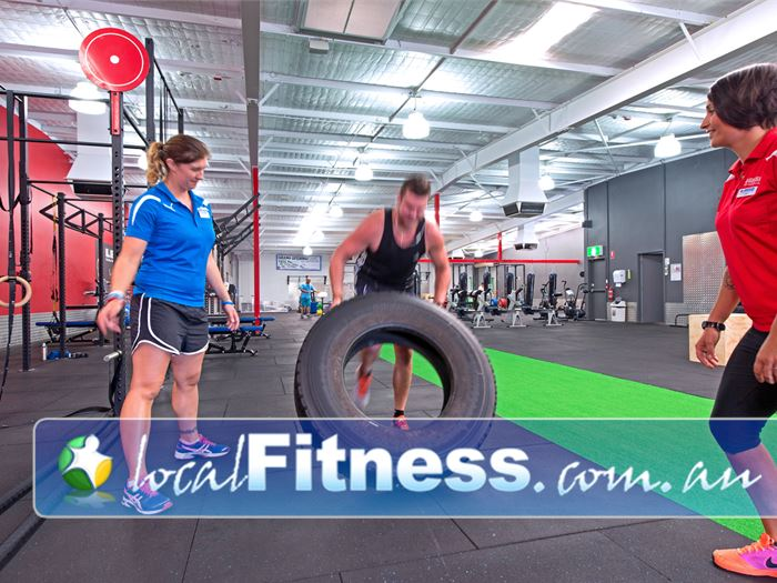 Genesis Fitness Clubs HIIT Perth  | Sled pulls, tyre flips, shuttle runs on our