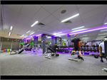 The fully equipped free-weights training area in our