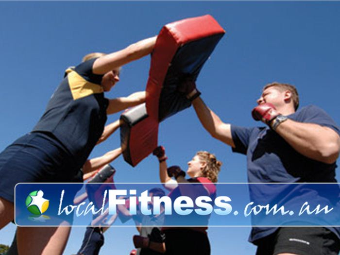 Step into Life Elwood Brighton Outdoor Fitness Outdoor Combine boxing and kicking and