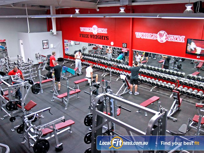 World Gym Gym Mermaid Waters    One of the largest Free-weight strength training facilities