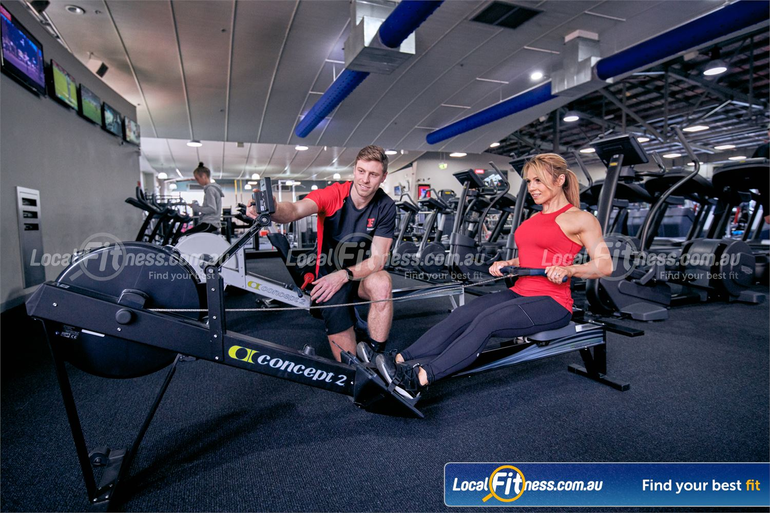 Fitness First Platinum Richmond Our Richmond gym team can challenge you with a HIIT rowing workout.