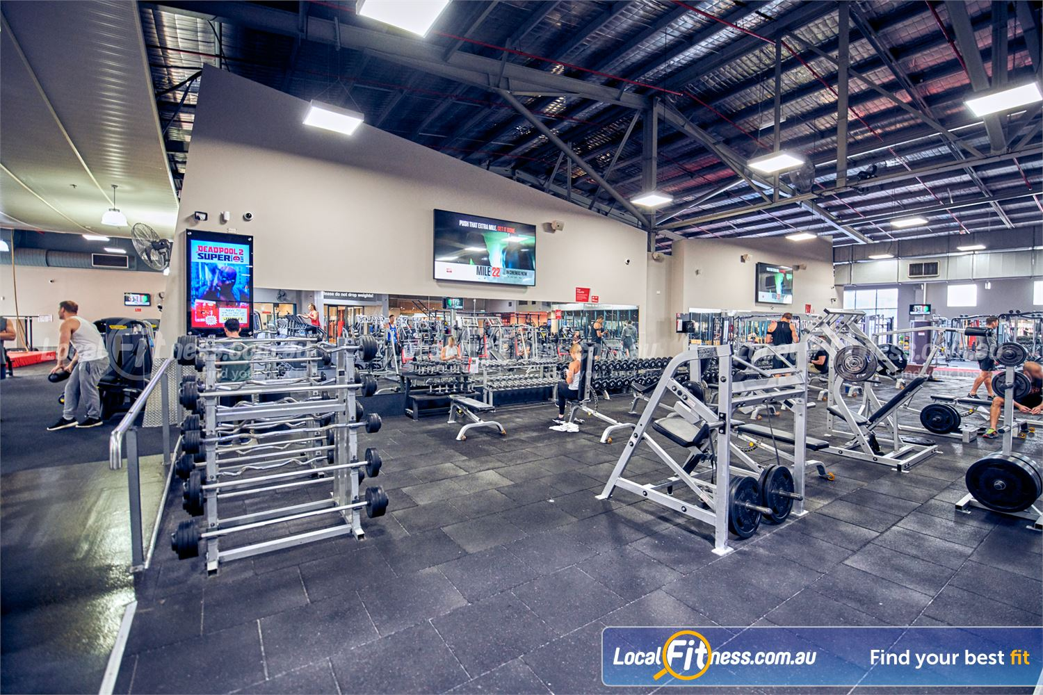 Fitness First Platinum Near Toorak Our Richmond gym provides a fully equipped free-weights area.<br />