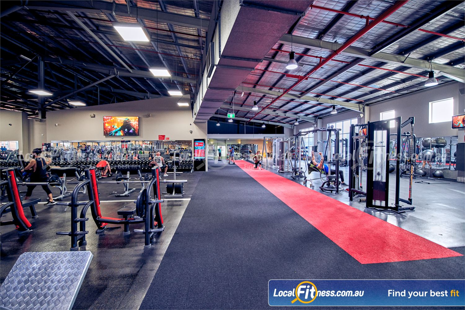 Fitness First Platinum Richmond The spacious Richmond gym free-weights and functional areas are conveniently located side-by-side.