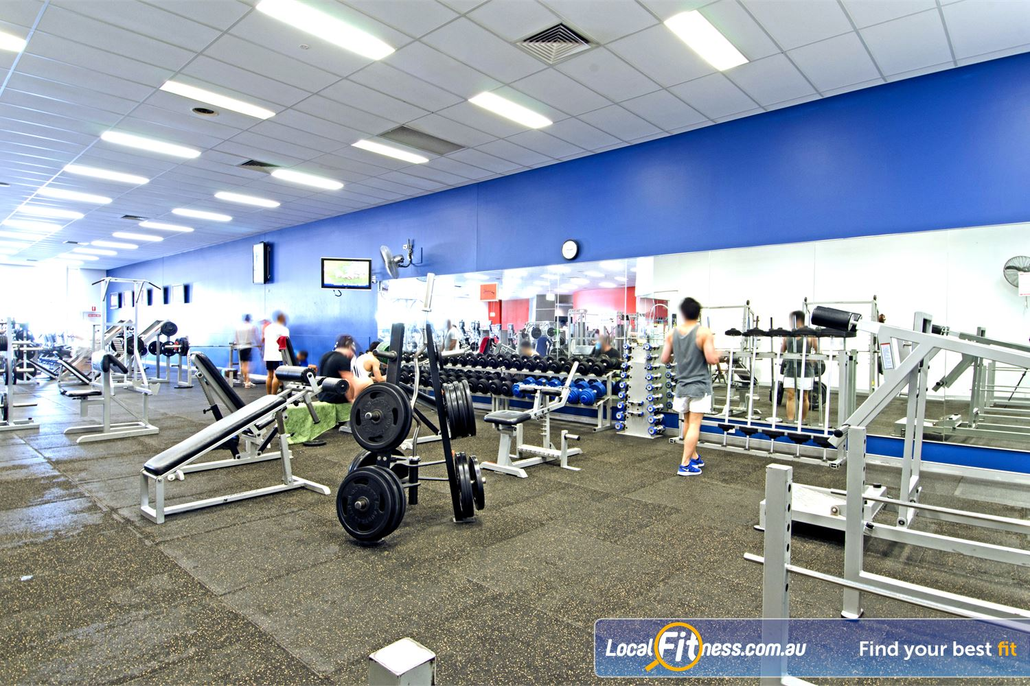 Goodlife Health Clubs Near Thornlands At our Cleveland 24/7 gym, pick from a large selection of free-weights.