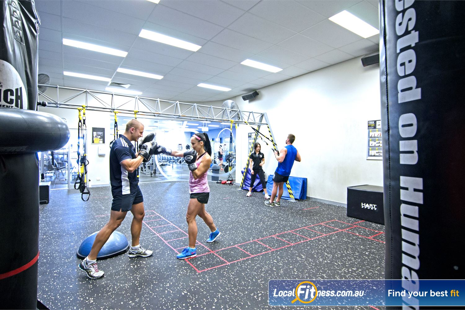 Goodlife Health Clubs Cleveland Vary your Cleveland personal training sessions with cardio boxing.