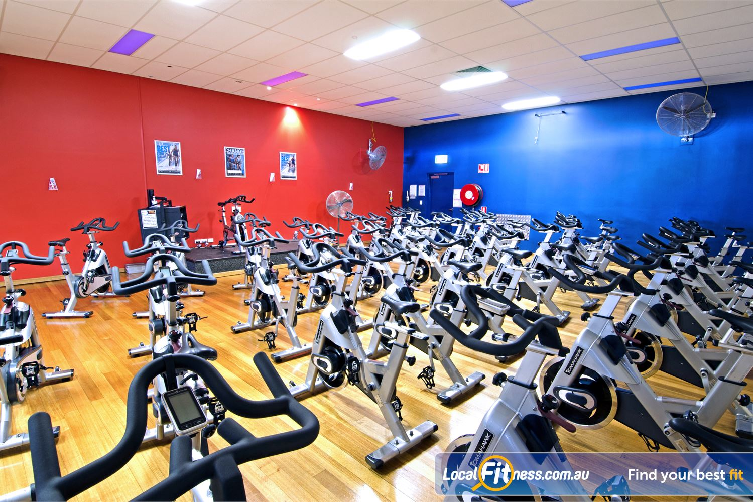 Goodlife Health Clubs Near Thornlands Dedicated Cleveland spin cycle studio.