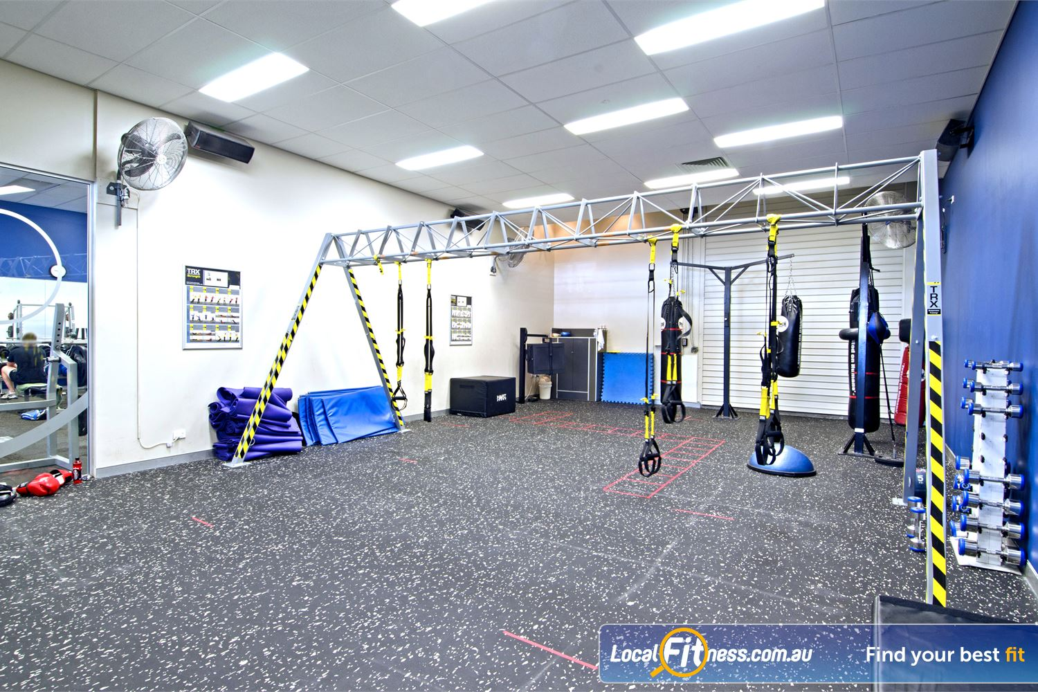 Goodlife Health Clubs Near Coochiemudlo Island Our dedicated functional training area at Goodlife Cleveland.