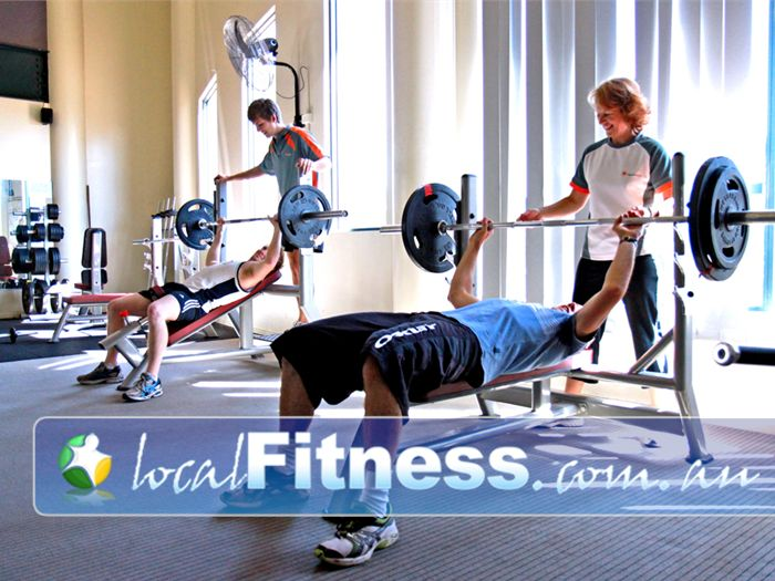 Bacchus Marsh Leisure Centre Gym Melton  | The free-weights training area at the Bacchus Marsh