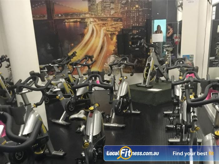 Fernwood Fitness Gym Beverly Hills  | Burn calories fast with Rockdale spin cycle.