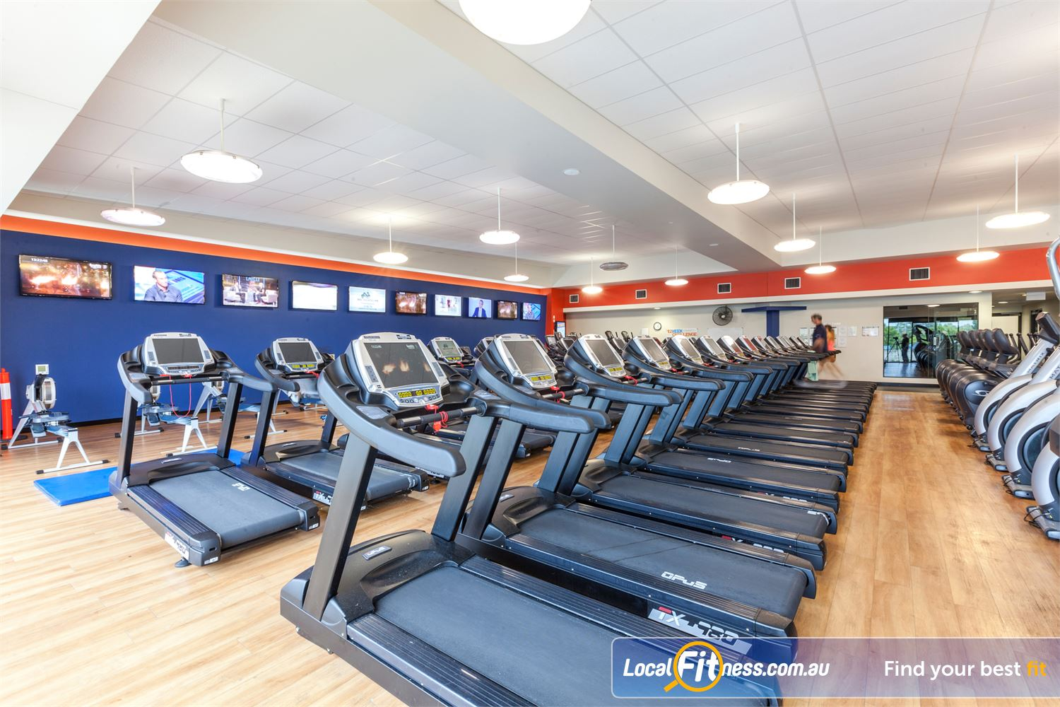 Goodlife Health Clubs Near Dicky Beach The latest cardio with personalised LCD screens.