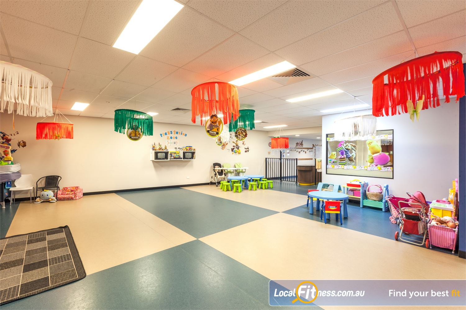Goodlife Health Clubs Caloundra Goodlife Caloundra provides on-site child minding services.