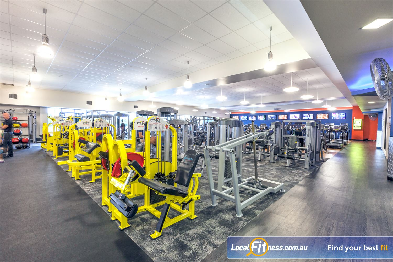 Goodlife Health Clubs Caloundra Our Caloundra gym features a wide selection of pin-loaded machines.