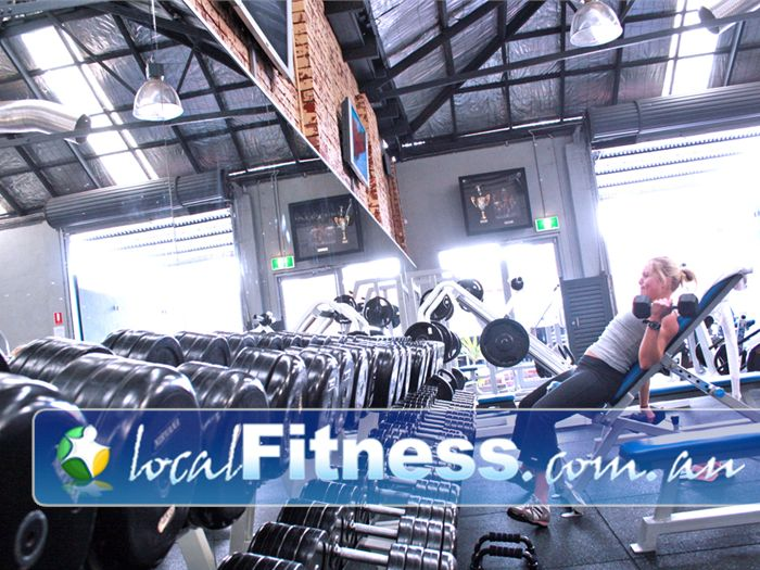 Natural Muscle Gym Ascot Vale  | Huge range of dumbbells for all levels.