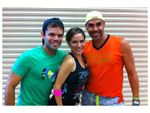 The dynamic Zumba4U team - Alexis, Alfonso and