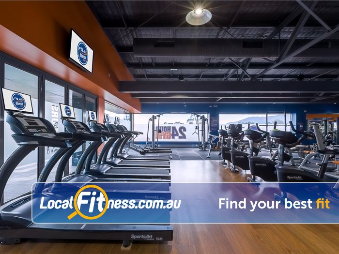 Plus Fitness 24/7 Bayswater Watch your favorite shows while you burn calories on the treadmill.