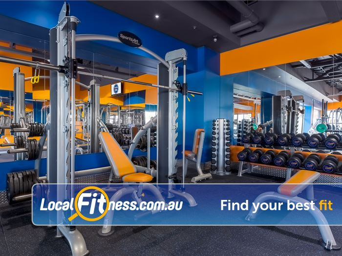 Plus Fitness 24/7 Near The Basin Heavy duty training with our squat rack, smith machine and more.