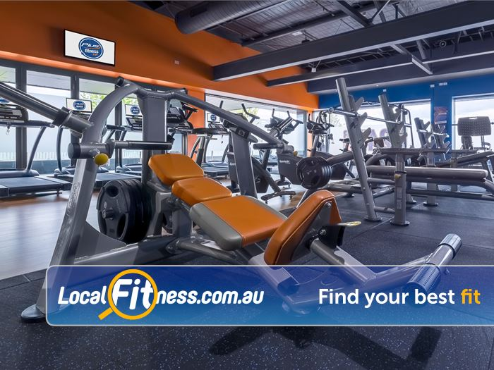 Plus Fitness 24/7 Bayswater Our Bayswater gym includes a state of the art plate loading equipment.