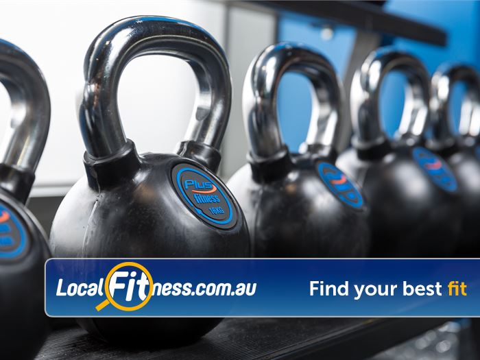 Plus Fitness 24/7 Bayswater Get functional with kettle bell training.