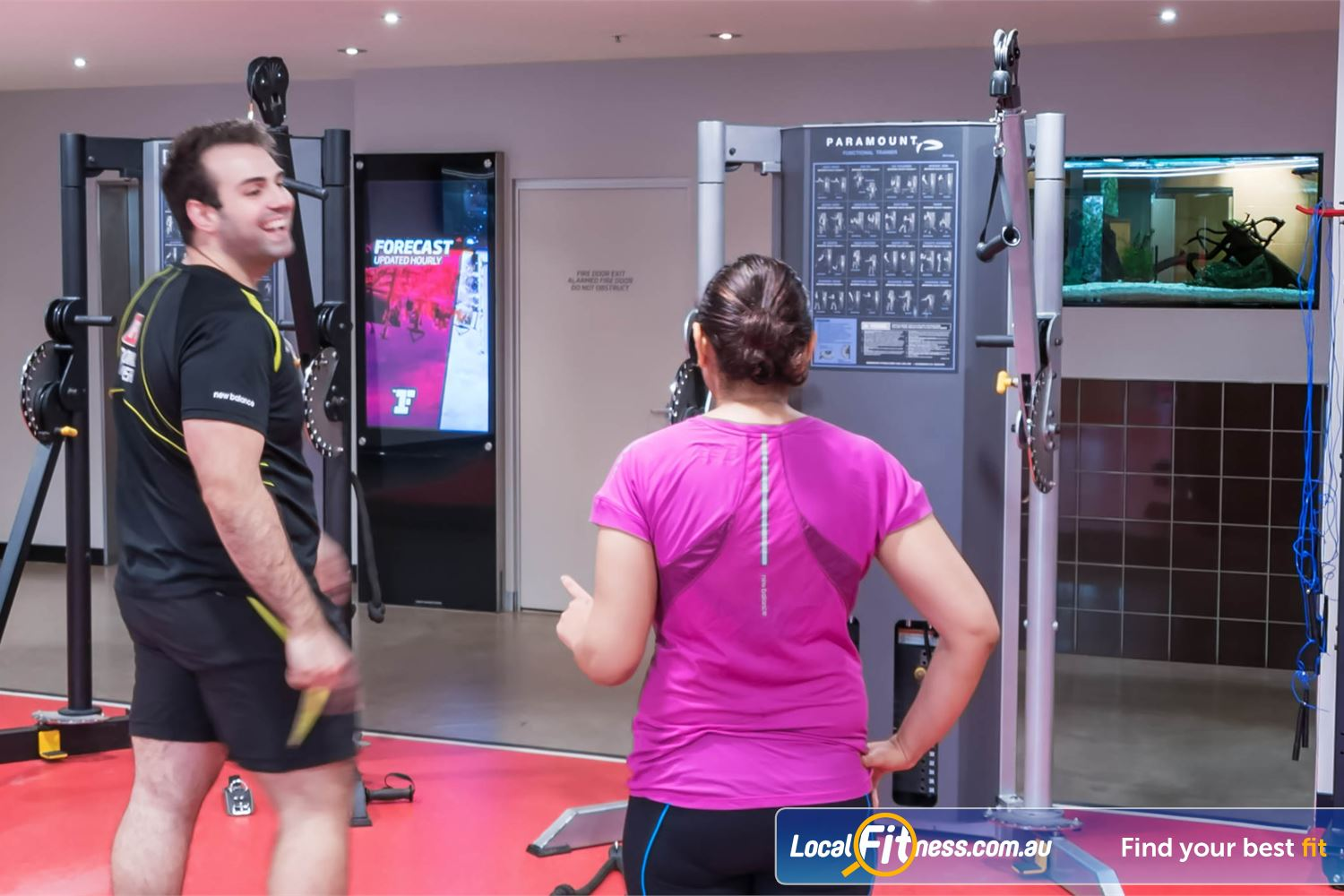 Fitness First Elizabeth Plaza Near Waverton Get the right advice about training from our North Sydney personal trainers.