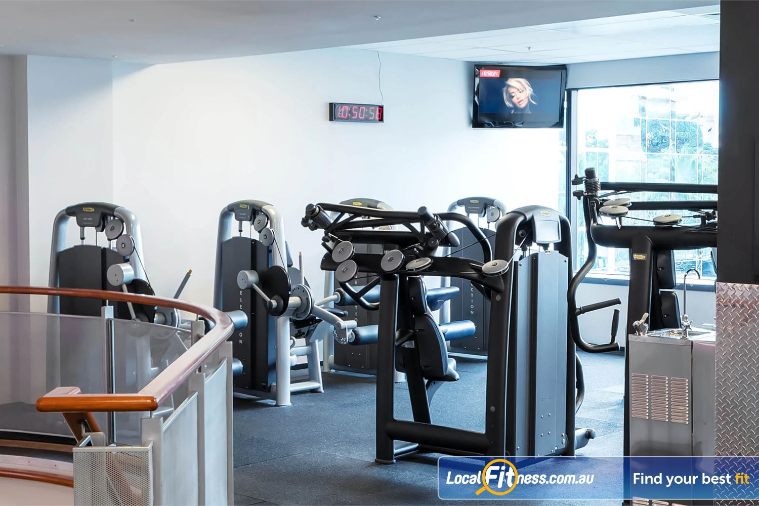 Fitness First Elizabeth Plaza Near Milsons Point Our North Sydney gym includes state of the art Technogym equipment.
