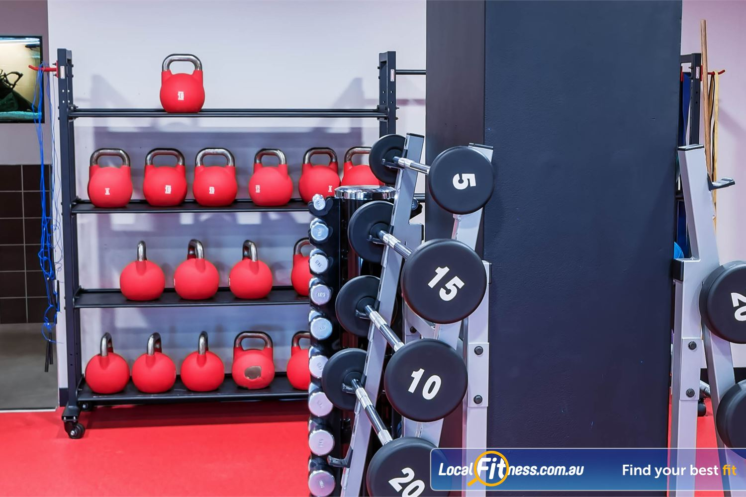 Fitness First Elizabeth Plaza Near Milsons Point Our freestyle area is fully equipped with kettlebells, dumbbells, barbells and more.