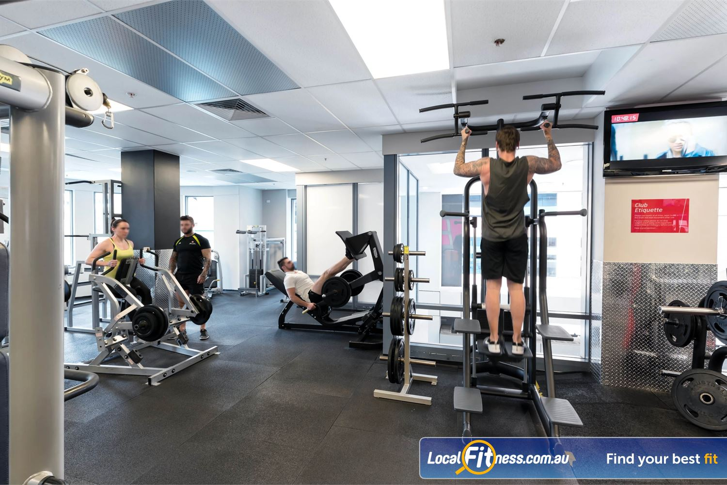 Fitness First Elizabeth Plaza Near Milsons Point Our North Sydney gym includes a full range of heavy duty plate and pin-loading machines.
