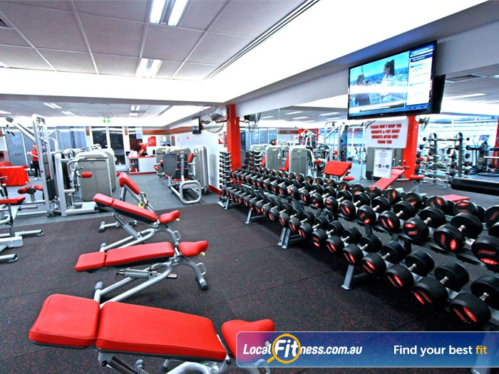Snap Fitness Gym Mount Gravatt  | The comprehensive free-weights area in our 24 hour
