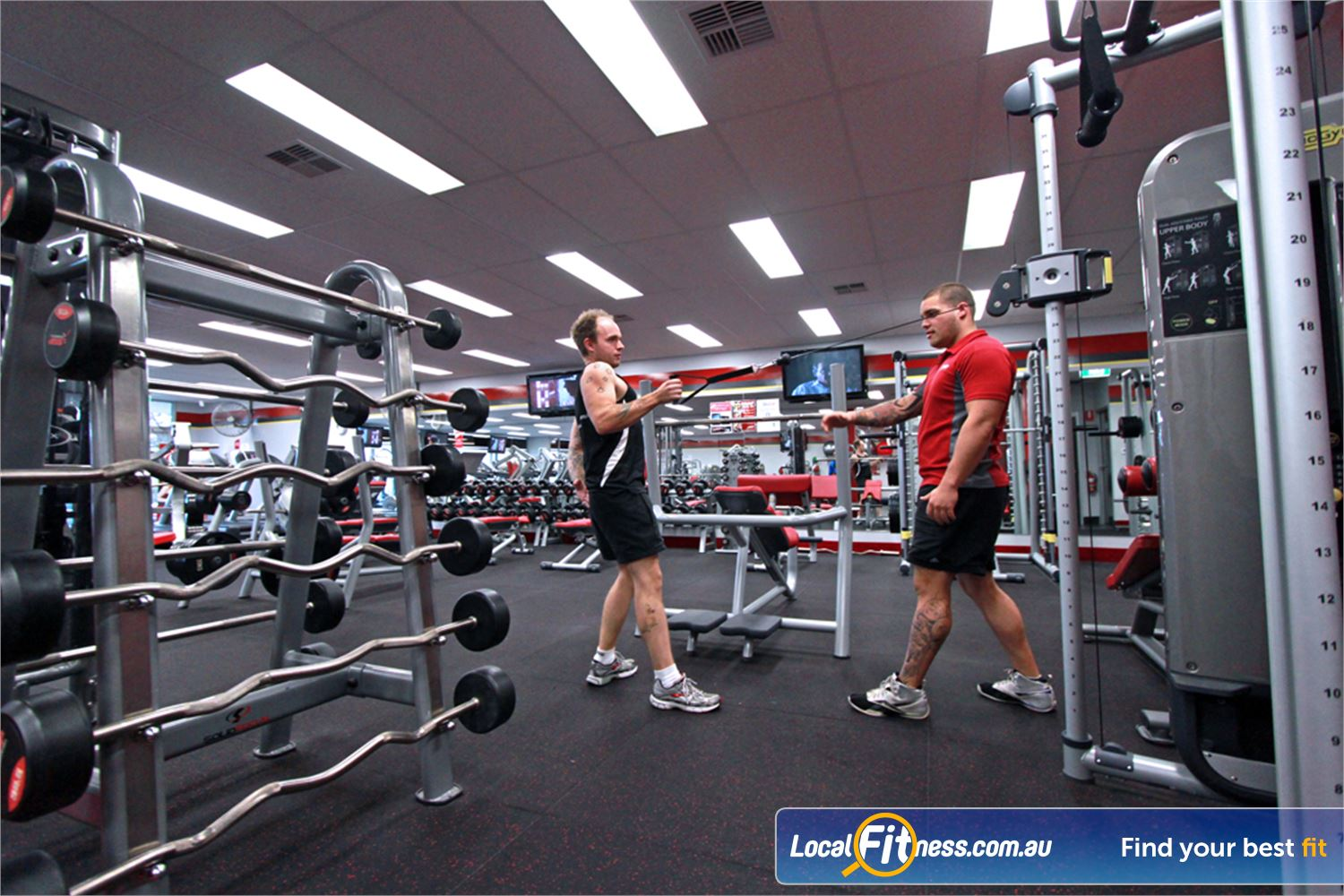 Snap Fitness Near Middle Park Jindalee gym staff can help you with your weights training.