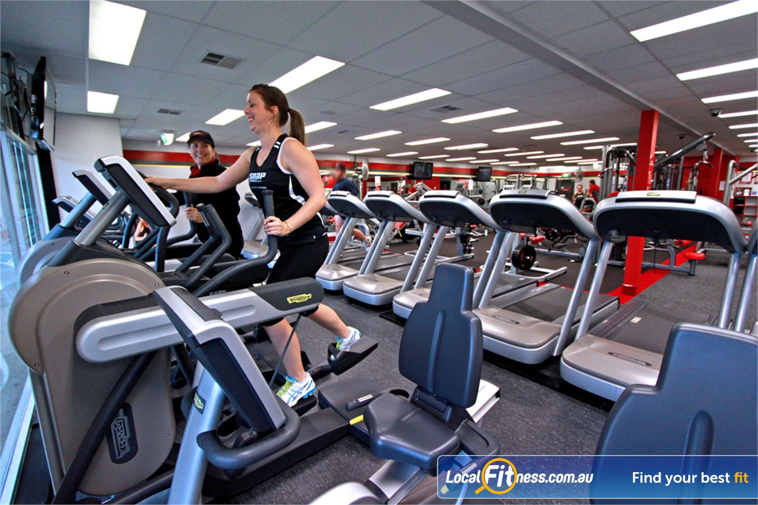 Snap Fitness Near Westlake Vary your workout 24 hours a day with cross trainers, treadmills, cycle bikes and more.