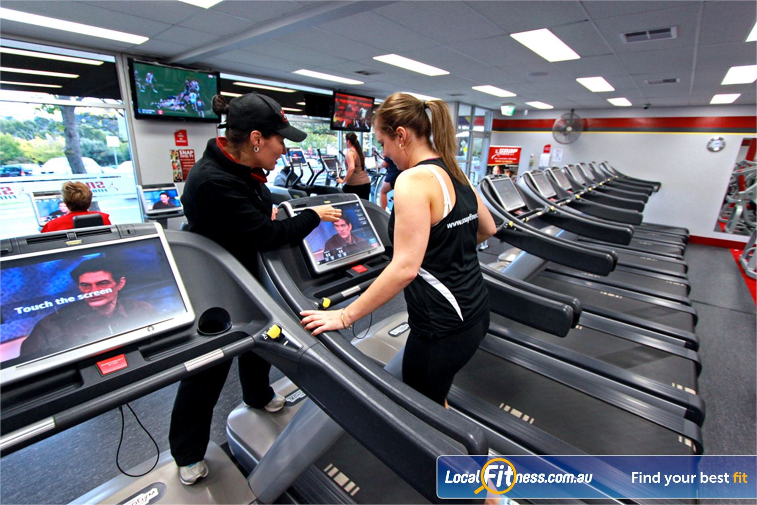 Snap Fitness Jindalee Watch your favorite shows while you train.
