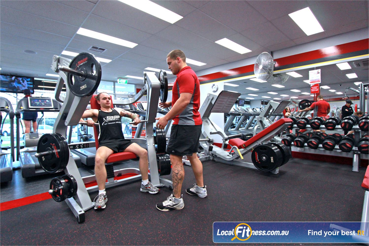 Snap Fitness Near Middle Park Get strong with heavy duty plate loading equipment.