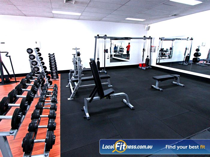Carlton Fitness Gym Gym Kensington  | Our Carlton gym is fully equipped for strength.