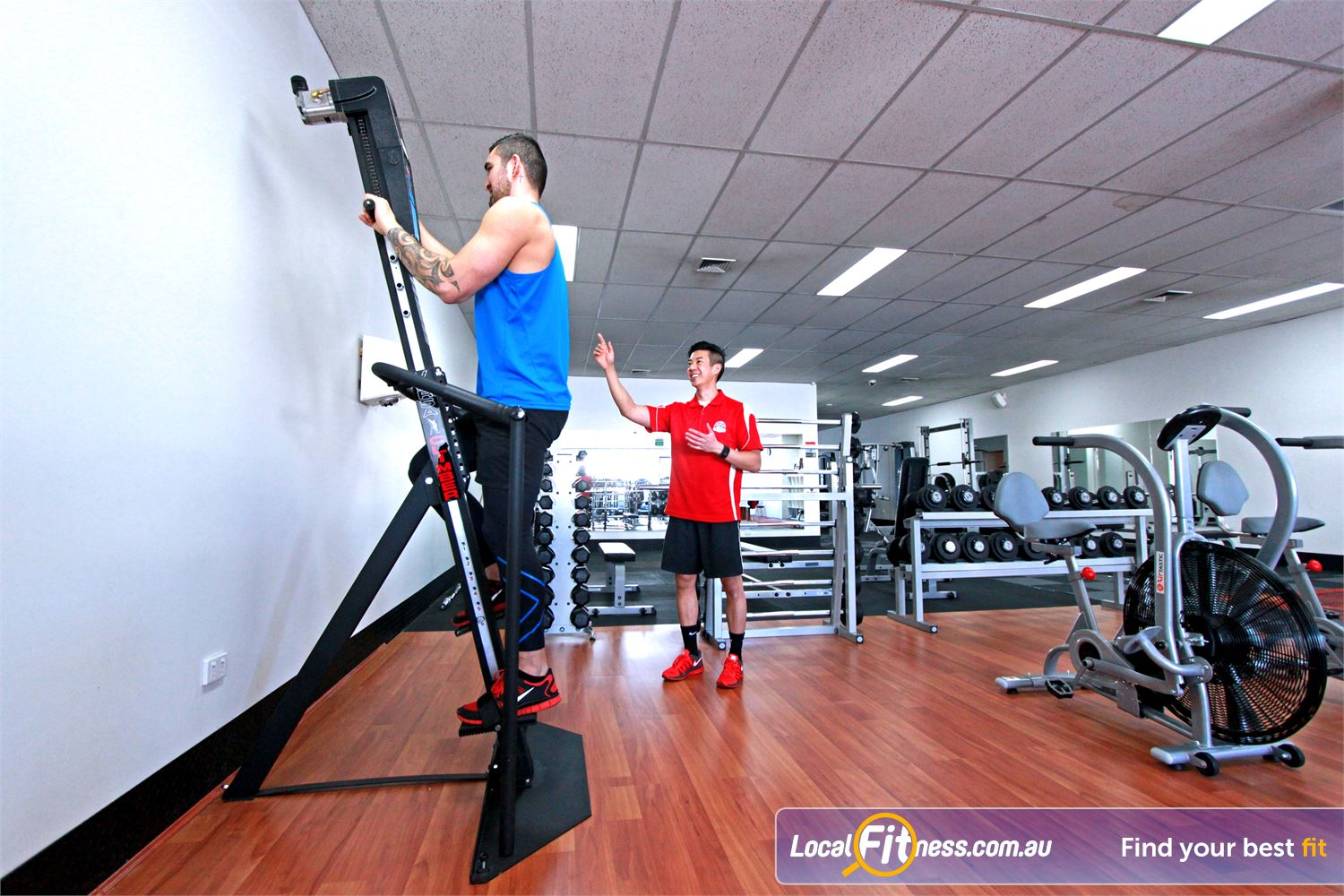 Carlton Fitness Gym Carlton North The popular versaclimber is hard to find, but Lean For Life Carlton has one.