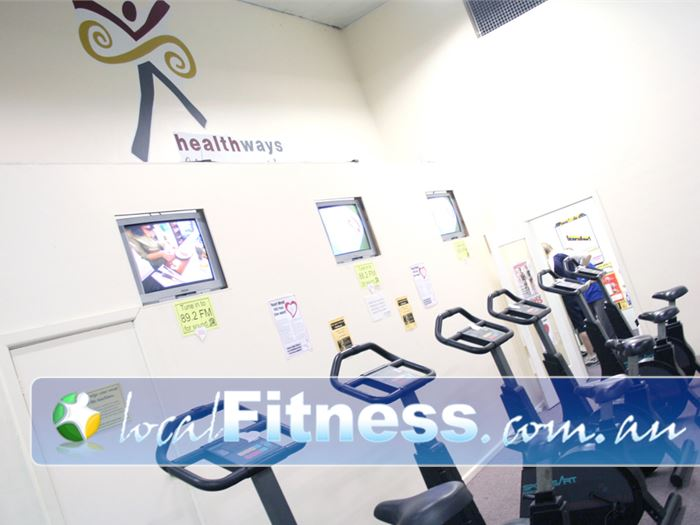 Healthways Recreation Centre Gym Heidelberg    Enjoy your favorite shows while you do your