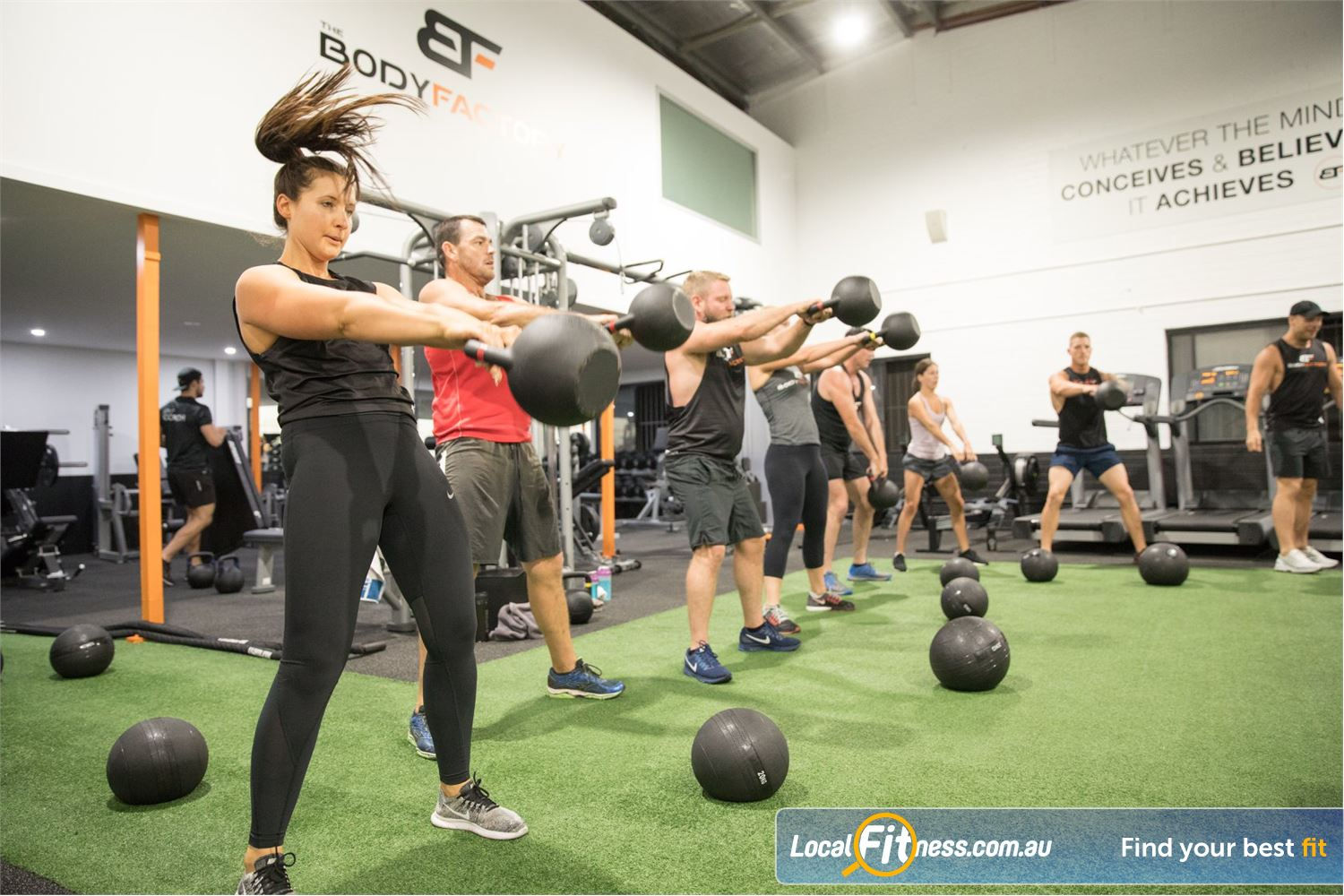 The Body Factory Near Port Hacking Our Caringbah gym is designed around innovative group functional training.