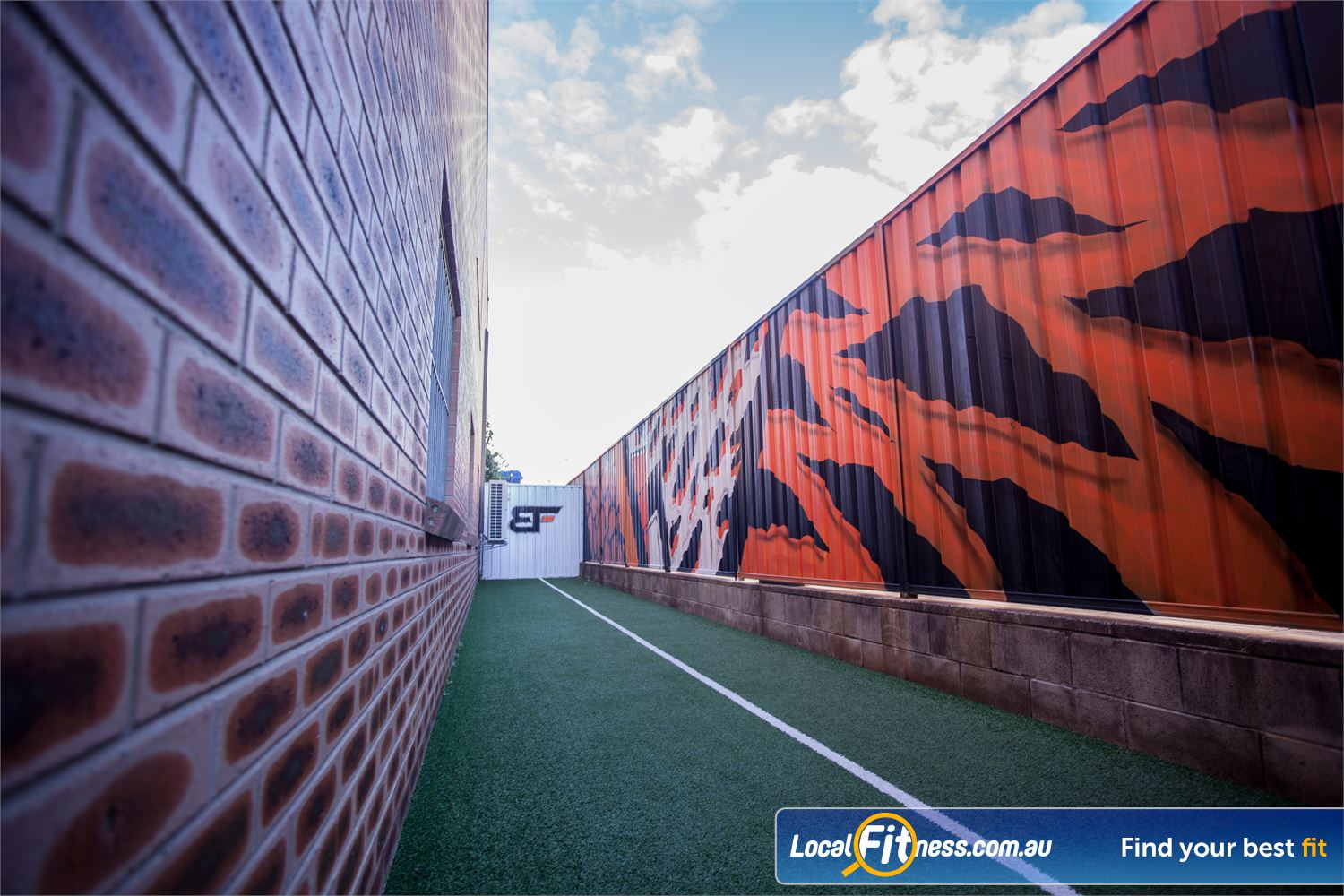 The Body Factory Near Warumbul The outdoor training area in our Caringbah gym.