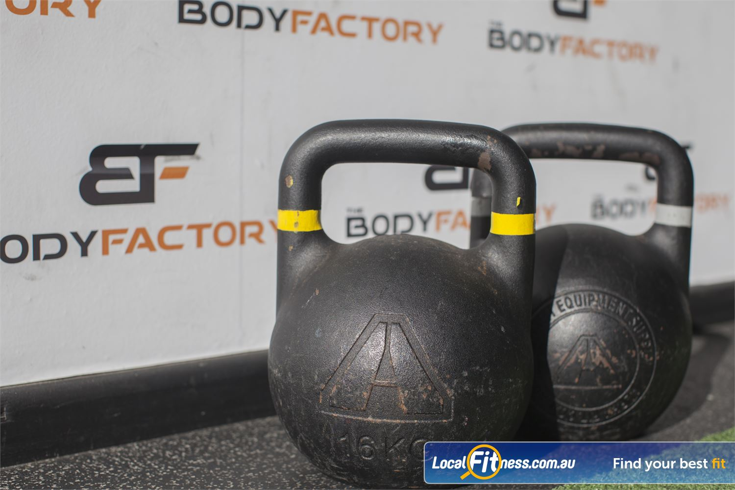 The Body Factory Near Warumbul State of the art functional training inc. kettlebells, battle ropes and more.