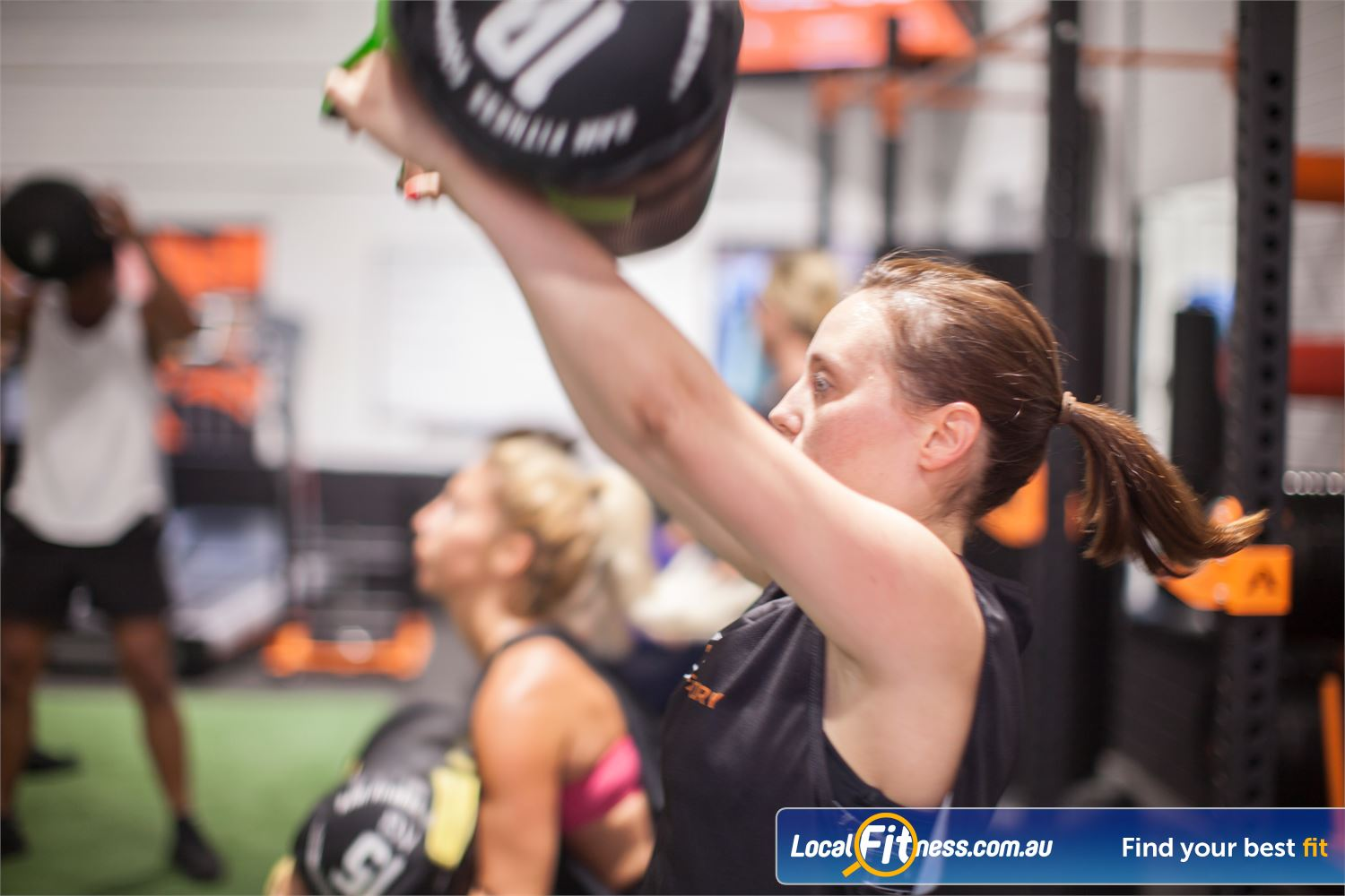 The Body Factory Near Port Hacking Group Fitness means training in a class environment with a great workout.
