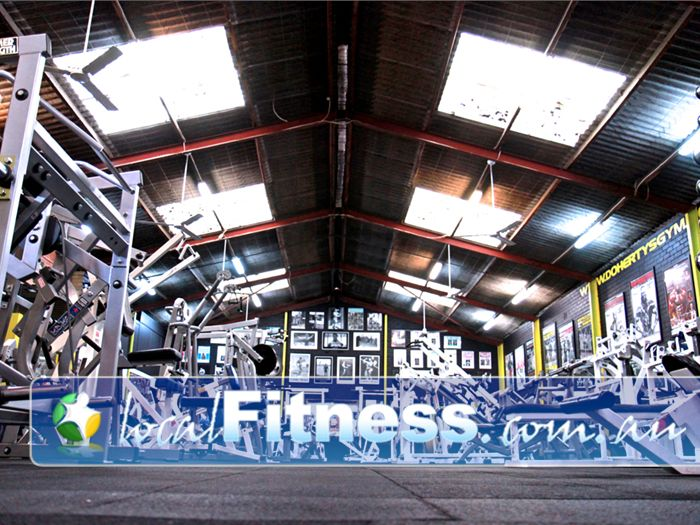 Doherty's Gym Gym Niddrie  | The west coast US style gym layout at
