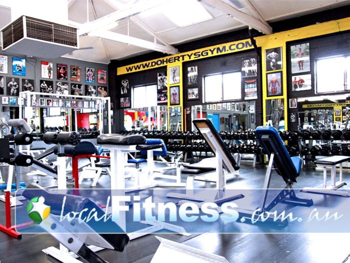Doherty's Gym Moreland Gym Fitness One of the largest free-weights