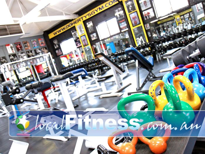 Doherty's Gym Brunswick Plenty of benches, dumbbells, kettlebells and more.